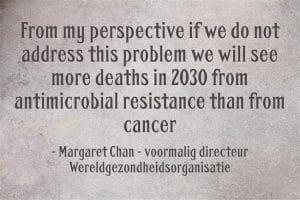 Antiobiotica resistentie - margaret chan wereldgezondheidsorganisatie