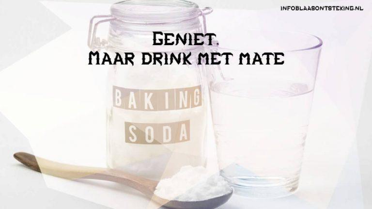 Baking soda - geniet maar drink met mate